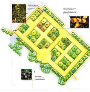 Plan du jardin des recollets