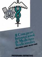 II Congreso Internacional de Medicinas Tradicionales – Lima Peru Junio 26 29 1988