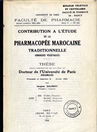 la pharmacopée marocaine traditionnelle